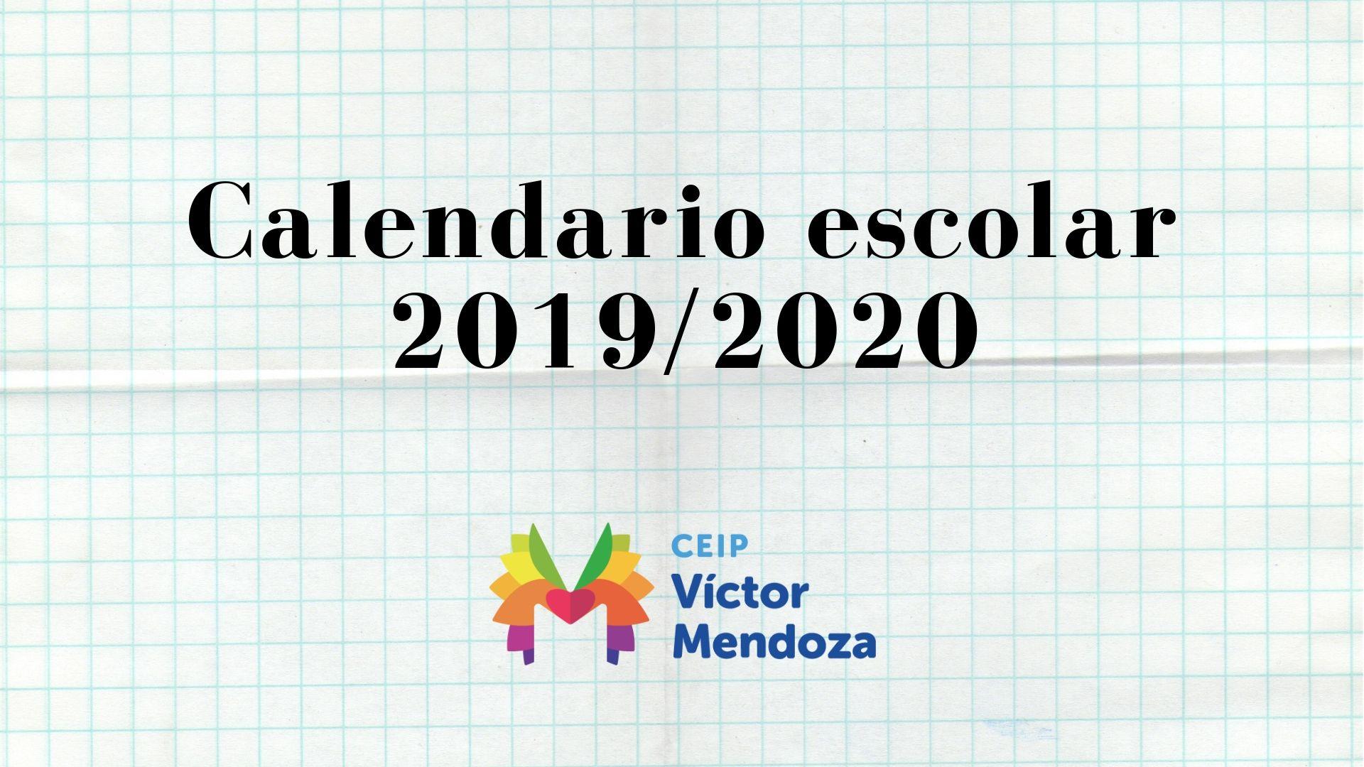 Calendario escolar 2019_2020